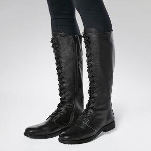 Stiefel auf Blockabsatz mit Hallux Comfort und weitem Schaft