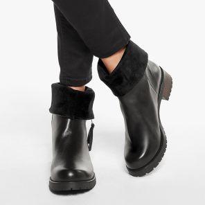 Hallux Stiefel mit Krempelschaft Schwarz