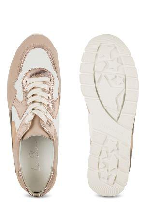 Hallux Ugly Sneaker Beige-Rosé mit Extra-Komfort bei empfindlichen Füßen