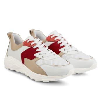 Chunky Sneaker Beige/Rot