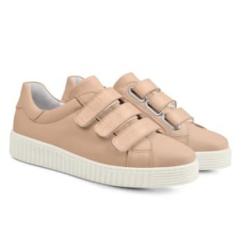 Sneaker Retro mit Klettverschluss Rosé