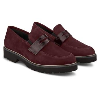 Premium Loafer mit Profilsohle Bordeaux