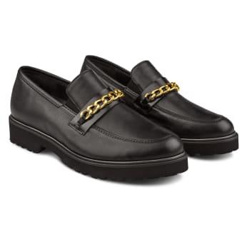 Premium Loafer mit Kettendetail Schwarz