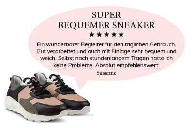 """Eine Kundin schwärmt von unserem Chunky Sneaker: """"Super bequemer Sneaker"""""""