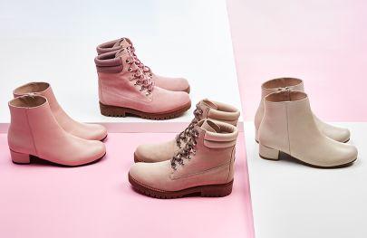 Super weiche und feminine Farben kombiniert mit Boots und Stiefeletten begleiten uns durch den Frühling