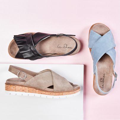 Bequeme Hallux Sandalen mit Wechselfußbett von LaShoe