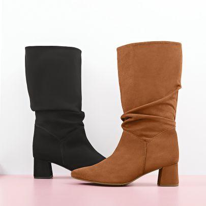 Hallux Stiefel in stylish, exklusiv von LaShoe: Der Kundenliebling Slouchy Boot Nubuk