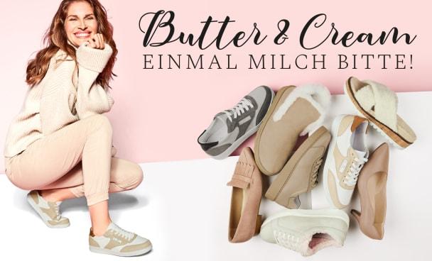 Unsere Lieblingsschuhe in den aktuellen Trendfarben creme und beige für anspruchsvolle Füße und Hallux valgus