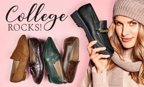 Wir sind verliebt in den College-Style. Hier die neusten Loafer der Herbst-/Wintersaison 2021 für anspruchsvolle Füße und Hallux valgus entdecken.