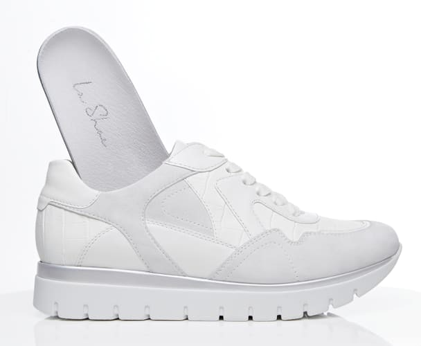 Hallux Kroko Sneaker Weiß mit herausnehmbaren Fußbett