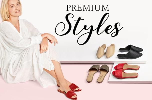 """Premium Styles: Der Sommertrend """"geflochtenes Leder"""" umgesetzt mit Pantoletten und Mules für anspruchsvolle Füße und Hallux valgus"""