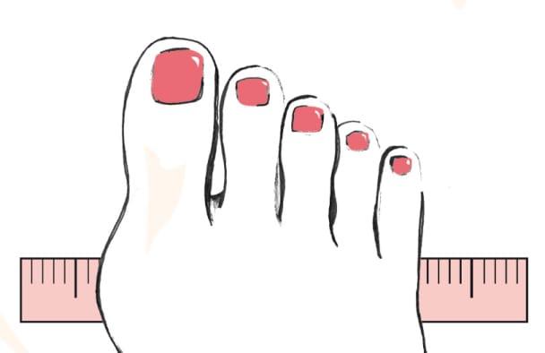 Ermitteln Sie ganz einfach Ihre Schuhbreite und somit Ihre individuelle Schuhgröße