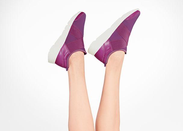 Hallux Sock-Sneaker Lila mit Extra-Komfort