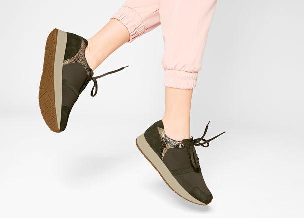 Sneaker mit Haifischsohle Metallic Grau mit Extra-Komfort für Hallux valgus