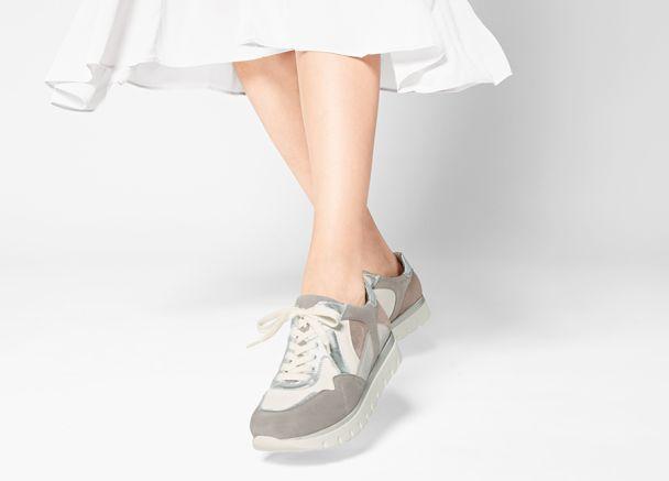 Hallux Ugly Sneaker Grau/Taupe mit Extra-Komfort und Wechselfußbett