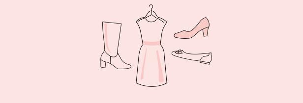 Die passenden Schuhe zum Kleid auch mit Hallux valgus
