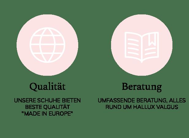 Ihre Vorteile bei LaShoe: Qualitativ hochwertige Schuhe und Beratung zum Thema Hallux valgus