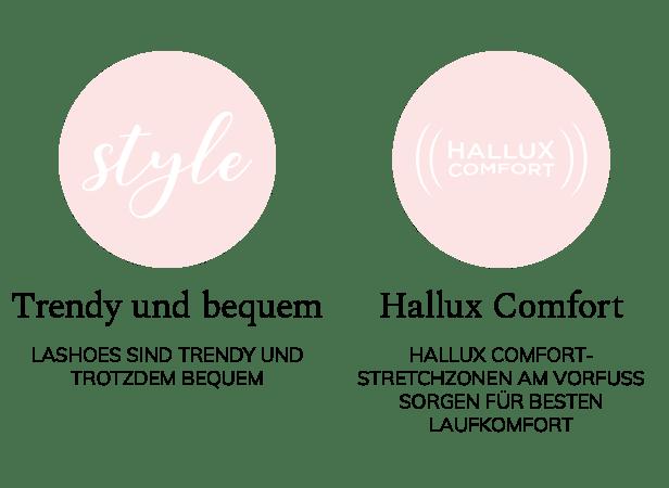 Ihre Vorteile bei LaShoe: Trendy und angesagte Schuhe mit Hallux Comfort