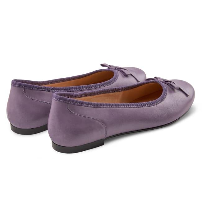 Ballerina mit Schleife Flieder – modischer und bequemer Schuh für Hallux valgus und empfindliche Füße von LaShoe.de