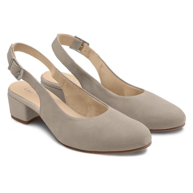 Sling Pumps Grau – modischer und bequemer Schuh für Hallux valgus und empfindliche Füße von LaShoe.de