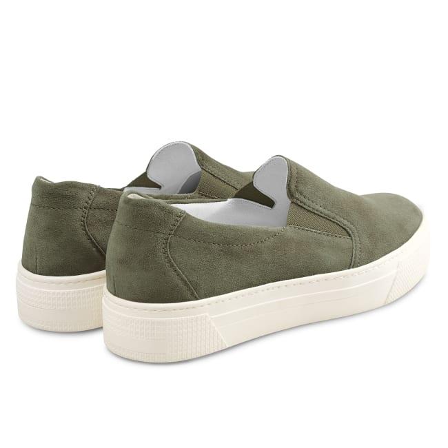 Slipper auf Plateausohle Khaki – modischer und bequemer Schuh für Hallux valgus und empfindliche Füße von LaShoe.de