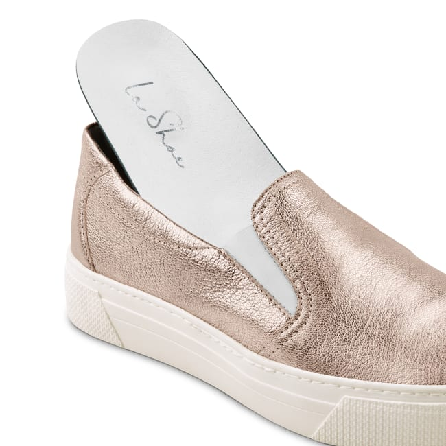 Slipper auf Plateausohle Rosé – modischer und bequemer Schuh für Hallux valgus und empfindliche Füße von LaShoe.de