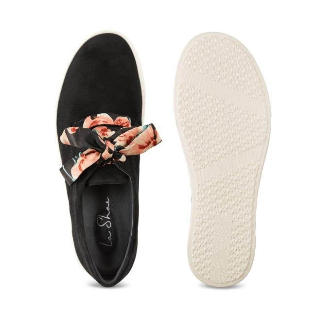 Schnürschuh auf Plateausohle Schwarz – modischer und bequemer Schuh für Hallux valgus und empfindliche Füße von LaShoe.de