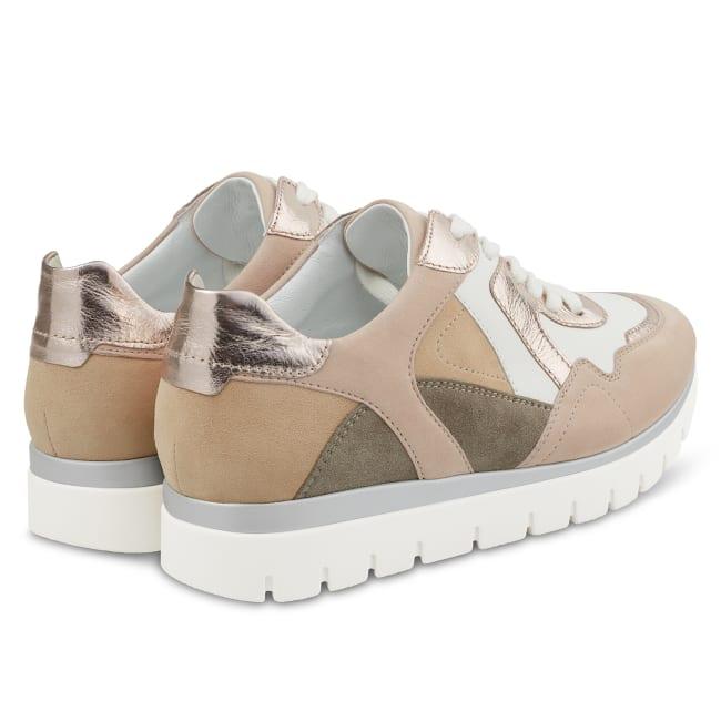 Ugly Sneaker Beige/Rosé – modischer und bequemer Schuh für Hallux valgus und empfindliche Füße von LaShoe.de