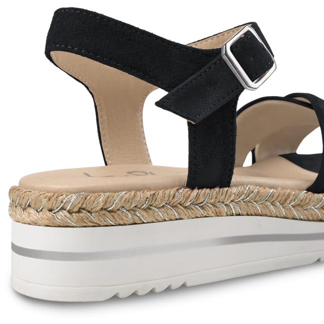 Sandale Summertime Schwarz – modischer und bequemer Schuh für Hallux valgus und empfindliche Füße von LaShoe.de