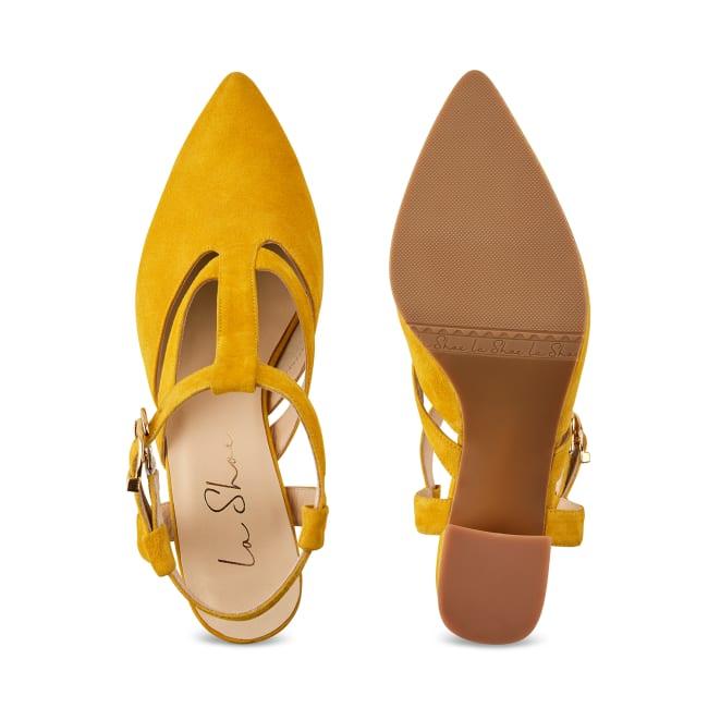 Sandale Almondshape Gelb – modischer und bequemer Schuh für Hallux valgus und empfindliche Füße von LaShoe.de