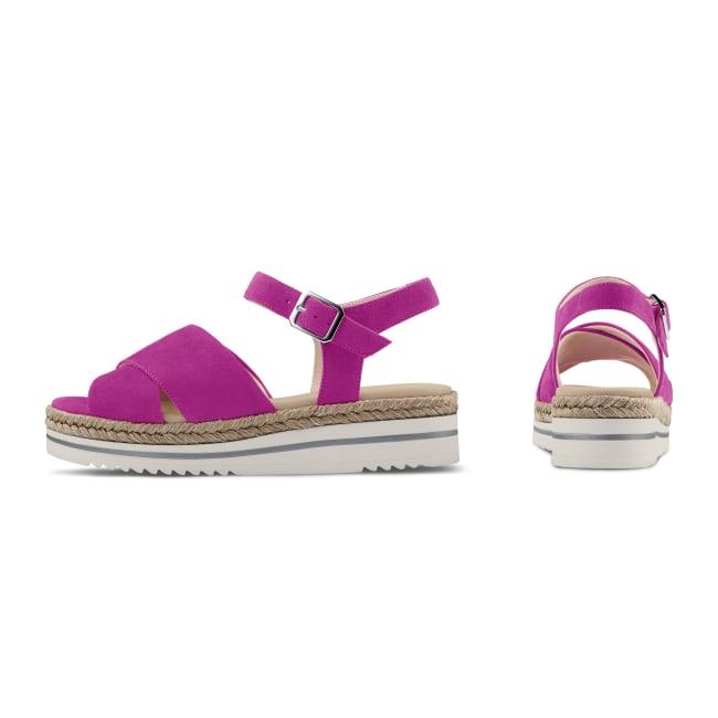 Sandale Summertime Magenta – modischer und bequemer Schuh für Hallux valgus und empfindliche Füße von LaShoe.de