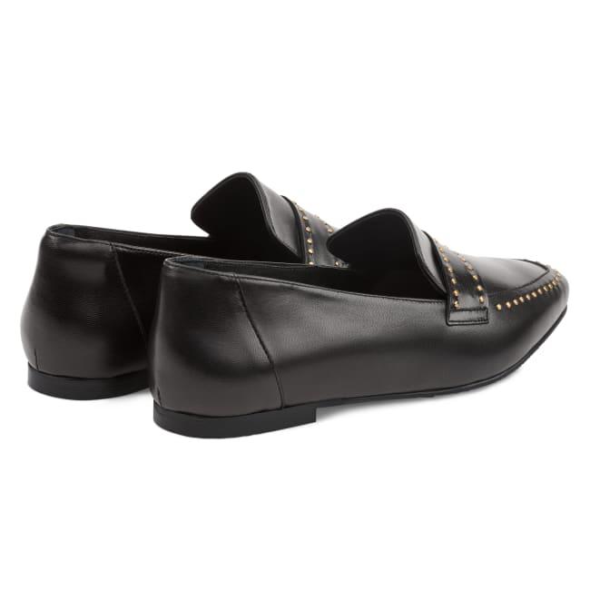 Loafer mit Nieten Schwarz – modischer und bequemer Schuh für Hallux valgus und empfindliche Füße von LaShoe.de