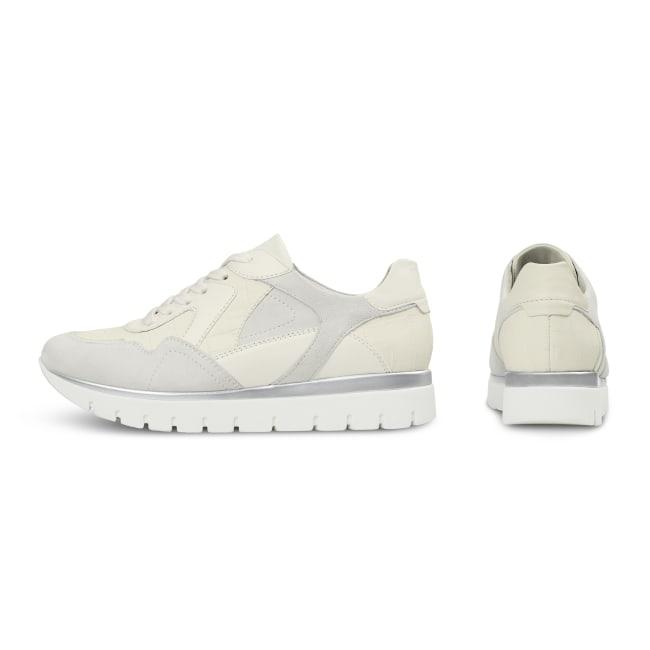 Sneaker GoWild Kroko Weiß – modischer und bequemer Schuh für Hallux valgus und empfindliche Füße von LaShoe.de