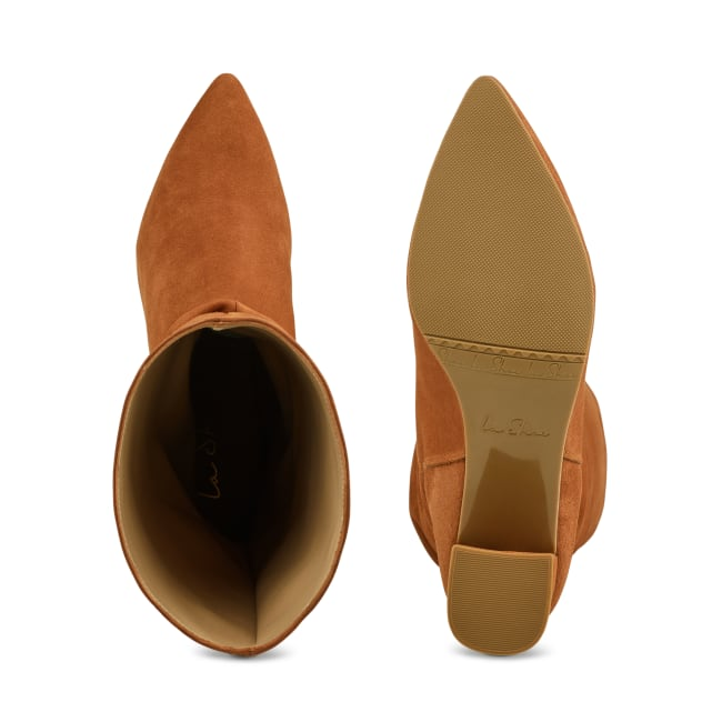 Stiefel Slouchy Cognac – modischer und bequemer Schuh für Hallux valgus und empfindliche Füße von LaShoe.de