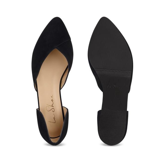 Ballerina V-Cut Schwarz – modischer und bequemer Schuh für Hallux valgus und empfindliche Füße von LaShoe.de