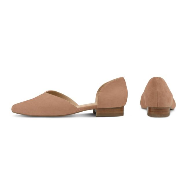 Ballerina V-Cut Nude – modischer und bequemer Schuh für Hallux valgus und empfindliche Füße von LaShoe.de