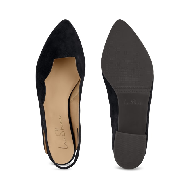 Sling Ballerina Wave Schwarz – modischer und bequemer Schuh für Hallux valgus und empfindliche Füße von LaShoe.de