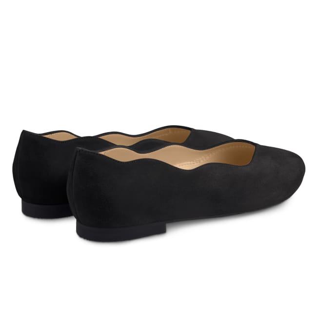 Ballerina Wave Schwarz – modischer und bequemer Schuh für Hallux valgus und empfindliche Füße von LaShoe.de