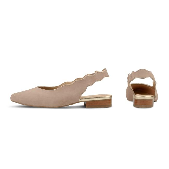 Sing Ballerina mit Goldrand Nude – modischer und bequemer Schuh für Hallux valgus und empfindliche Füße von LaShoe.de