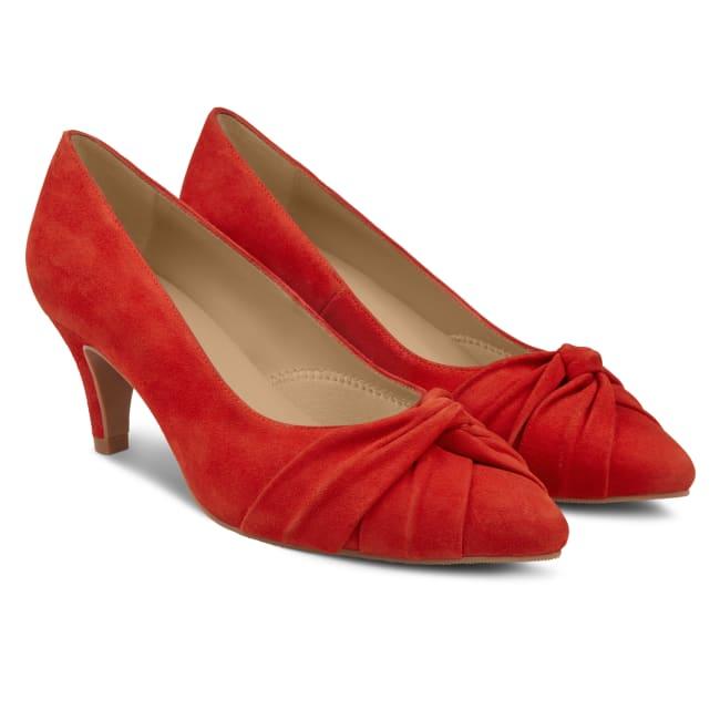 Pumps mit Knotendetail Rot – modischer und bequemer Schuh für Hallux valgus und empfindliche Füße von LaShoe.de