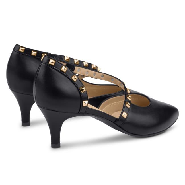Pumps Rock Style Schwarz – modischer und bequemer Schuh für Hallux valgus und empfindliche Füße von LaShoe.de