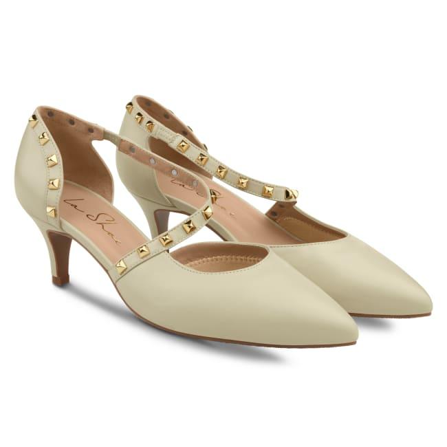 Pumps Rock Style Offwhite – modischer und bequemer Schuh für Hallux valgus und empfindliche Füße von LaShoe.de