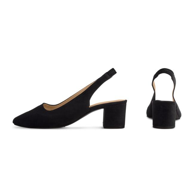 Sling Pumps Spitz Schwarz – modischer und bequemer Schuh für Hallux valgus und empfindliche Füße von LaShoe.de