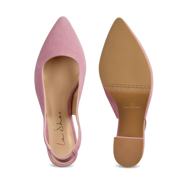 Sling Pumps Spitz Violett – modischer und bequemer Schuh für Hallux valgus und empfindliche Füße von LaShoe.de