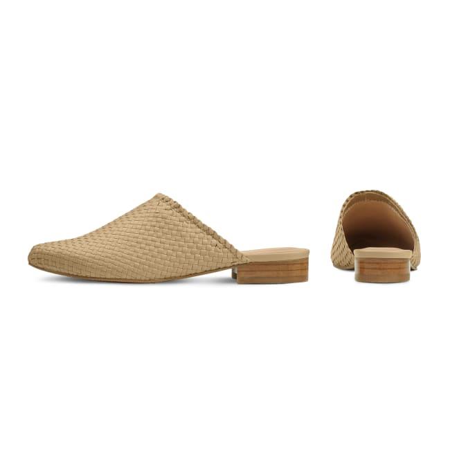 Premium Mule geflochten Beige – modischer und bequemer Schuh für Hallux valgus und empfindliche Füße von LaShoe.de