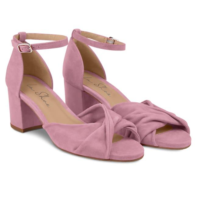 Riemchensandale getwistet Violett – modischer und bequemer Schuh für Hallux valgus und empfindliche Füße von LaShoe.de