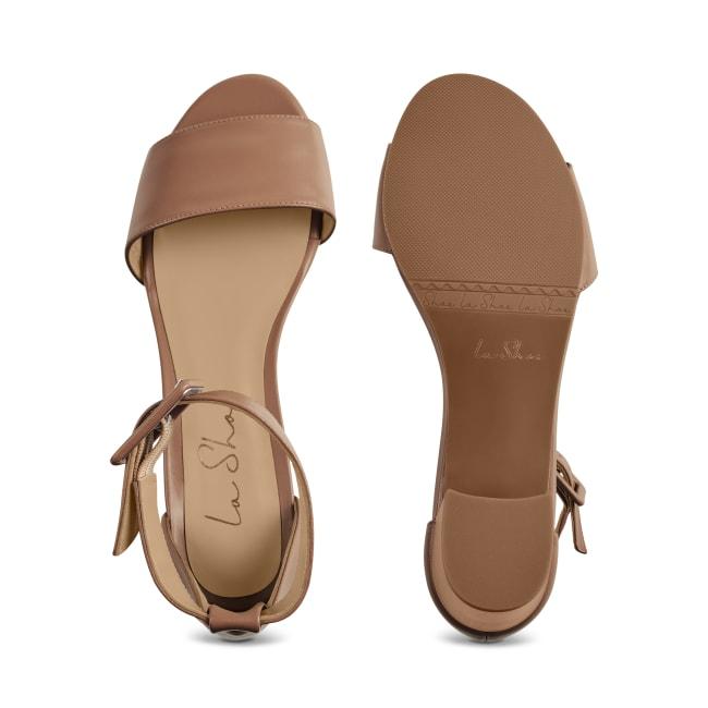 Sandalette mit Fesselriemchen Nude – modischer und bequemer Schuh für Hallux valgus und empfindliche Füße von LaShoe.de
