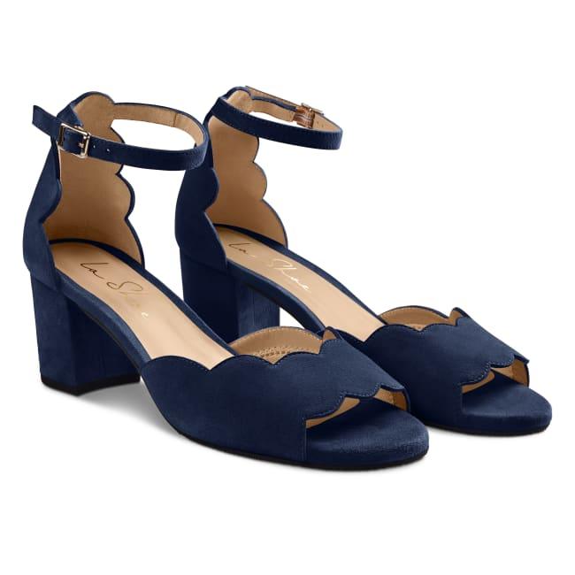 Riemchensandale Wave Marine – modischer und bequemer Schuh für Hallux valgus und empfindliche Füße von LaShoe.de