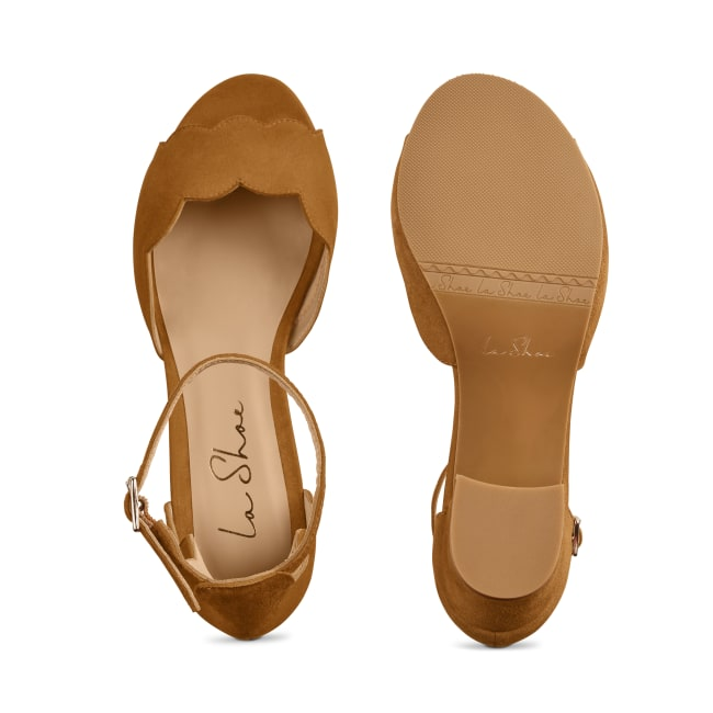 Riemchensandale Wave Cognac – modischer und bequemer Schuh für Hallux valgus und empfindliche Füße von LaShoe.de