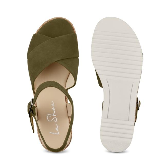 Sandale Summertime Khaki – modischer und bequemer Schuh für Hallux valgus und empfindliche Füße von LaShoe.de